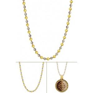 Cadena alegre plata rodio oro amarillo