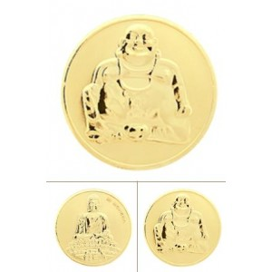 Buddha rodio oro amarillo tamaño grande
