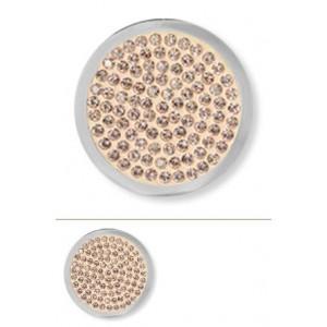Swarovsky rosa vintage tamaño mediano (diamond disc)