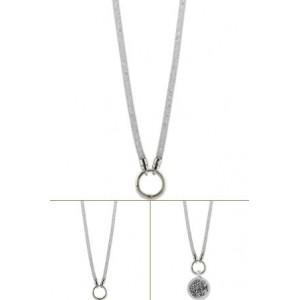 Cadena de luxe plata con cristal Swarovsky