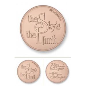 Sky rodio oro rosa tamaño grande