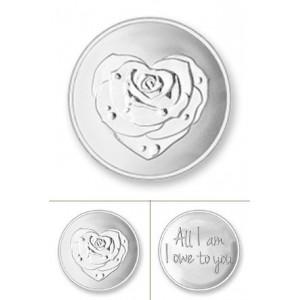 Rosa rodio plata tamaño pequeño