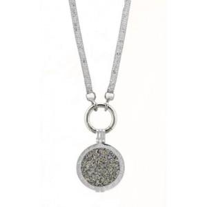 Swarovsky plain/cadena deluxe plata /colgante plata  L