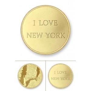 Nueva York rodio oro amarillo tamaño grande