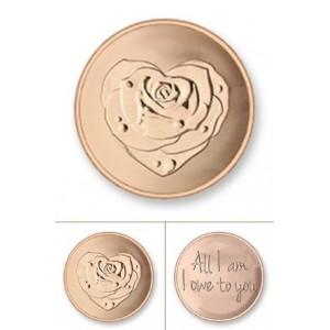 Rosa rodio oro rosa tamaño mediano