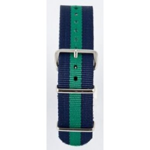 18 MM correa nylon tipo Nato azulmarino/verde