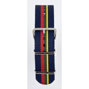 20 MM correa nylon tipo Nato azul/amarillo/verde/rojo