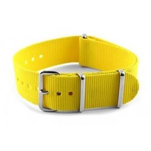 20 MM correa nylon tipo Nato amarilla