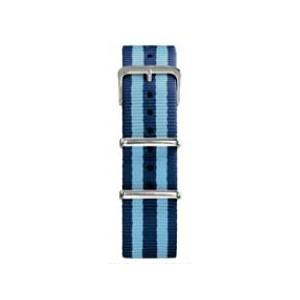 20 MM correa nylon tipo Nato azul/azul