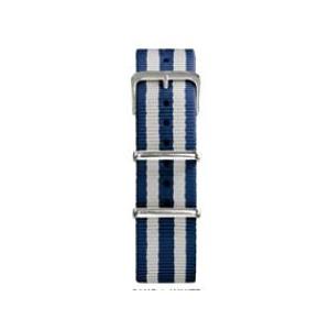 20 MM correa nylon tipo Nato azul/blanca