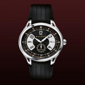 Reloj Davidoff bicolor black dial automatic rubber