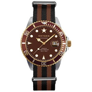 Reloj Oxygen Diver Gold Turtle  40mm