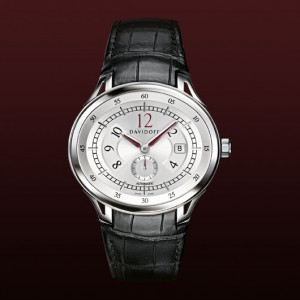 Reloj Davidoff silvered dial automatic alligator